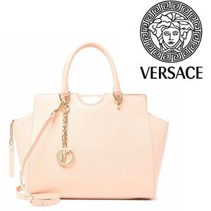 LAST ONE VERSACE Collection Pebbled Leather Bag